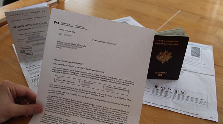 Documents officiels pour le PVT Canada 2014 : passeport et lettre d'introduction