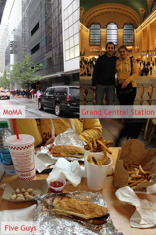 MoMA, Grand Central Station & Five Guys