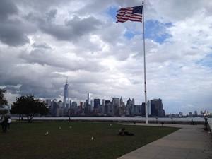Skyline vue depuis Ellis Island