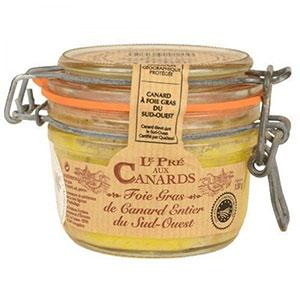 Foie gras entier de canard IGP du Sud-Ouest Pré aux Canards 130 g