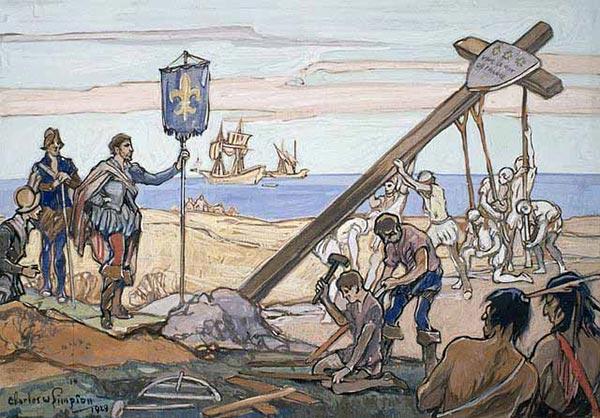 Découverte du Canada par Jacques Cartier en 1534